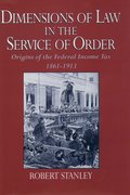 Cover for Dimensions of Law in the Service of Order