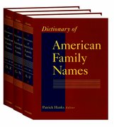 Cover for Dictionary of American Family Names