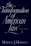 Cover for The Transformation of American Law 1870-1960