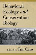 Cover for Behavioral Ecology and Conservation Biology