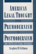 Cover for American Legal Thought from Premodernism to Postmodernism