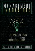 Cover for Management Innovators