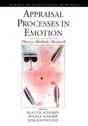 Cover for Appraisal Processes in Emotion