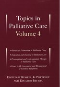 Cover for Topics in Palliative Care, Volume 4