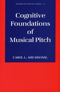 Cover for Cognitive Foundations of Musical Pitch