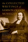 Cover for The Collected Writings of Samson Occom, Mohegan