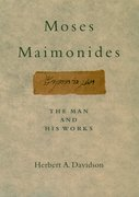 Cover for Moses Maimonides