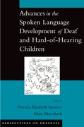 Cover for Advances in the Spoken Language Development of Deaf and Hard-of-Hearing Children