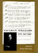 Cover for Vaughan Williams on Music