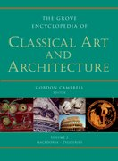Cover for Grove Encyclopedia of Classical Art and Architecture