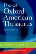 Cover for Pocket Oxford American Thesaurus