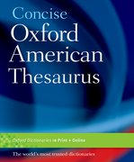 Cover for Concise Oxford American Thesaurus