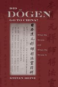 Cover for Did Dogen Go to China?