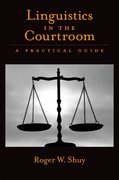 Cover for Linguistics in the Courtroom