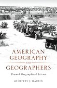 Cover for American Geography and Geographers