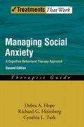 Cover for Managing Social Anxiety,Therapist Guide