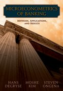 Cover for Microeconometrics of Banking Methods, Applications, and Results