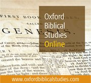 Cover for Oxford Biblical Studies Online - 9780195341119