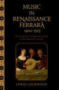 Cover for Music in Renaissance Ferrara 1400-1505