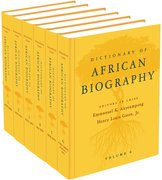 Cover for Dictionary of African Biography