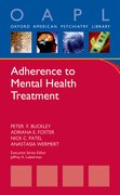 Cover for Adherence to Mental Health Treatment