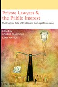 Cover for Private Lawyers and the Public Interest