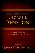 Cover for The Selected Works of George J. Benston, Volume 1