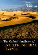 Cover for The Oxford Handbook of Entrepreneurial Finance