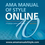 Cover for AMA Manual of Style: A Guide for Authors and Editors