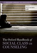 Cover for The Oxford Handbook of Social Class in Counseling