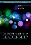 Cover for The Oxford Handbook of Leadership