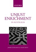 Cover for Unjust Enrichment in Australia