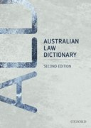 Cover for Australian Law Dictionary
