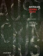 Cover for Australian Criminal Justice