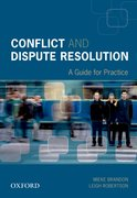 Cover for Conflict and Dispute Resolution