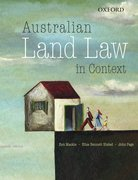 Cover for Australian Land Law in Context