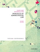Cover for Cases & Materials for Principles of Administrative Law, Second Edn