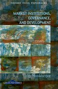 Cover for Market Institutions, Governance, and Development