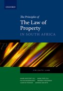 Cover for The Principles of the Law of Property in South Africa