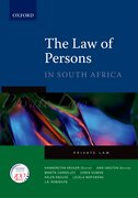Cover for The Law of Persons in South Africa