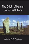 Cover for The Origin of Human Social Institutions