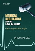 Cover for Medical Negligence and the Law in India
