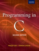 Cover for Programming in C 2/e