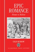 Cover for Epic Romance: Homer to Milton