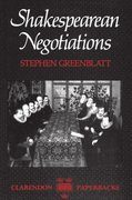 Cover for Shakespearean Negotiations