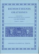 Cover for Demosthenes Orationes Vol. II. Part i