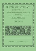 Cover for Quintilian Institutionis Oratoriae Vol. II