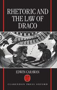 Cover for Rhetoric and the Law of Draco