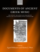 Cover for Documents of Ancient Greek Music