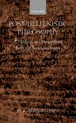 Cover for Post-Hellenistic Philosophy